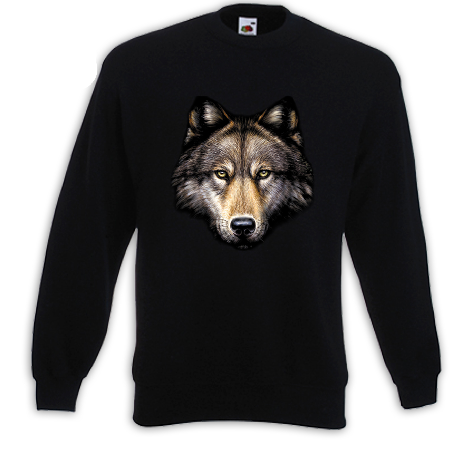 pullover wolf kopf natur wild indianer biker western trucker usa ebay. Black Bedroom Furniture Sets. Home Design Ideas